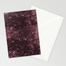 Deep rose violet velvet Stationery Cards