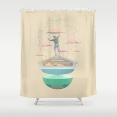 Clouds fisherman Shower Curtain