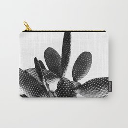 Black White Cactus #1 #plant #decor #art #society6 Carry-All Pouch