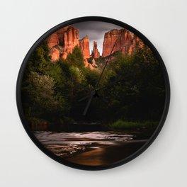 Sedona Vortex II - Chimney Rock Desert Photography Wall Clock