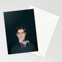 Man with little rat Stationery Cards