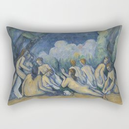 Paul Cézanne - The Bathers Rectangular Pillow