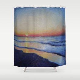 Dwindling Light Above The Ocean Shower Curtain