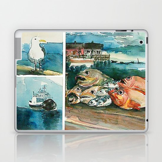 Memories frome the coast of Norway Laptop & iPad Skin