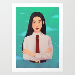 Business Girl Art Print
