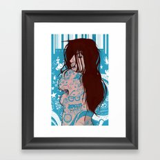 Ms. Tattoo-Girl Framed Art Print