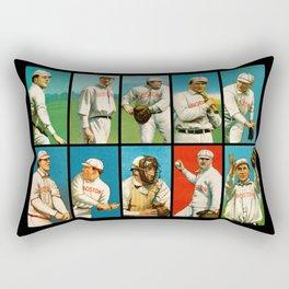 Vintage Boston Baseball Cards Rectangular Pillow
