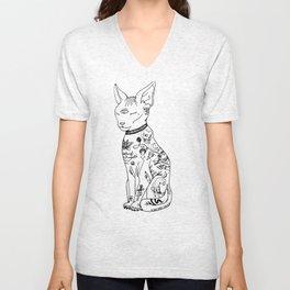 Tatted Cat Unisex V-Neck