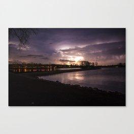 Lightning over WagonTrain Canvas Print