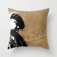 biggie smalls Throw Pillows featuring The Notorious B.I.G. - Biggie Smalls by Chad Trutt