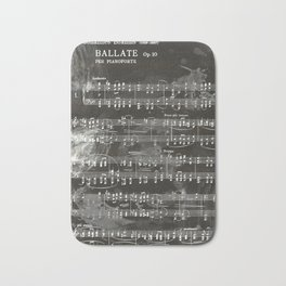 Brahms Sheet Music - Ballade Bath Mat