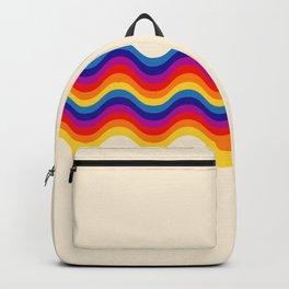 Wavy retro rainbow Backpack