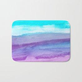 Wet in wet watercolors on textured paper Bath Mat