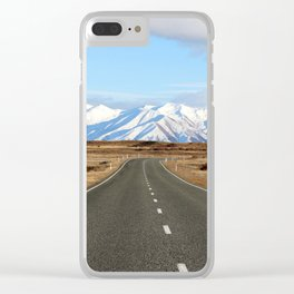 White Cap Journey Clear iPhone Case