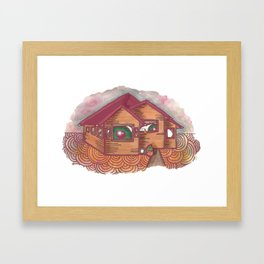 neighbours are watching  Framed Art Print