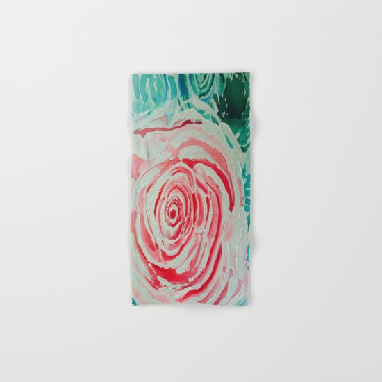Where the Pink Roses Grow, Summer is Ending and Romantic Fall Nights are Here Hand & Bath Towel