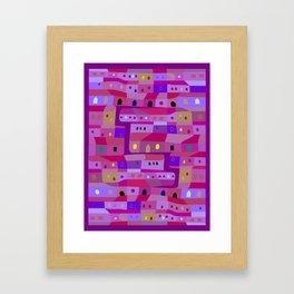 Colonia Incienso Cd de Guatemala Framed Art Print