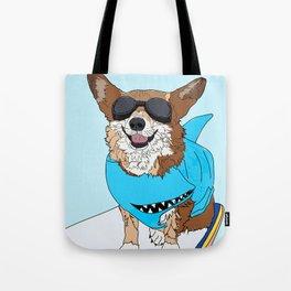 Corgi Dog Surfer Tote Bag
