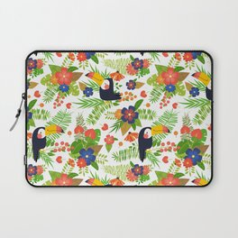 Toucans & Tropical Flowers Laptop Sleeve