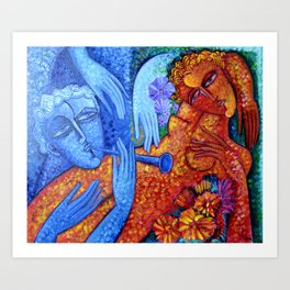 Lovers Art Print
