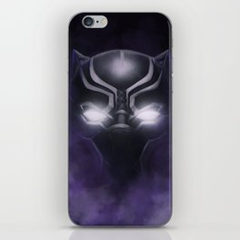 Black Panther - Cowl Portrait iPhone Skin