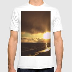 Golden Sky MEDIUM White Mens Fitted Tee