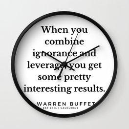 22 | Warren Buffett Quotes | 190823 Wall Clock