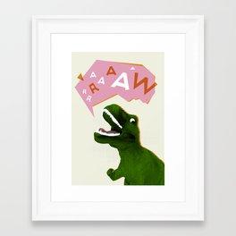Dinosaur Raw! Framed Art Print