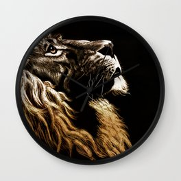 Lion Profile Wall Clock