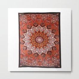 Star Mandala Indian Tapestry Metal Print