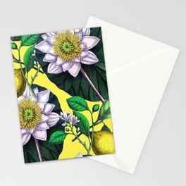 Vintage Lotus + Lemons Stationery Cards