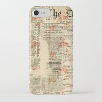 newspaper iPhone & iPod Cases featuring Vintage newspaper grunge by MJ'designs - Marosée Créations