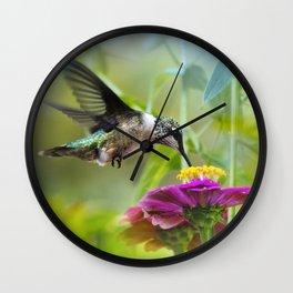 Sweet Hummingbird Wall Clock