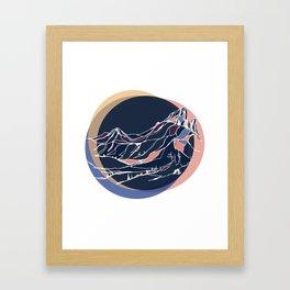 Black Tusk : Sunset Framed Art Print