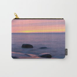 Lake Superior Sunset neat Ontonagon, Michigan Carry-All Pouch