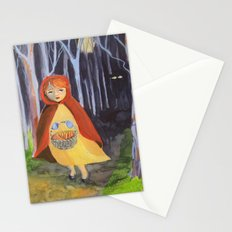Little red-riding hood Stationery Cards