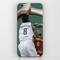 larry iPhone & iPod Skins featuring Larry Sanders by Jen Hynds