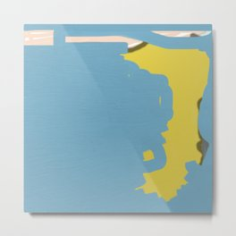 Map Abstraction Metal Print