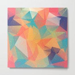Abstract Polygonal Pattern 12 Metal Print