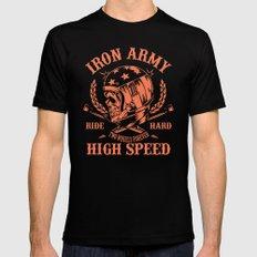 Iron Army Motoclub MEDIUM Black Mens Fitted Tee
