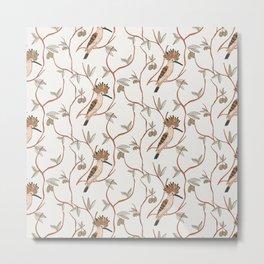Hoopoe light bird pattern Metal Print
