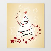 christmas tree Canvas Prints featuring christmas tree by Li-Bro