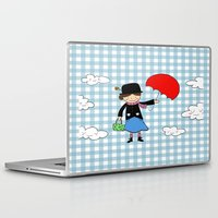 mary poppins Laptop & iPad Skins featuring Mary Poppins by EnelBosqueEncantado
