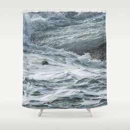 Staying Afloat in a World of Turmoil Shower Curtain