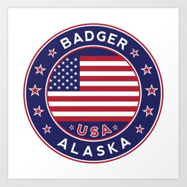 Badger, Alaska Art Print
