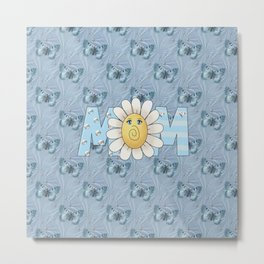 Dreamy Butterflies Roses and Mom Metal Print