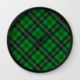 Scottish Plaid-Green Wall Clock