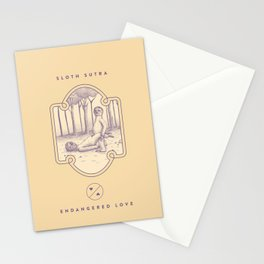 Endangered Love - Sloth Sutra Stationery Cards