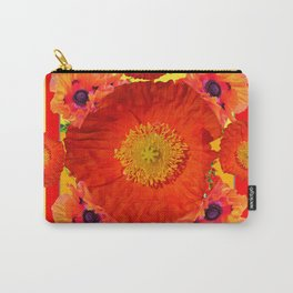 YELLOW-RED POPPIES GARDEN ART YELLOW PATTERNS Carry-All Pouch