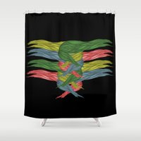 fairy tail Shower Curtains featuring Tail by kartalpaf